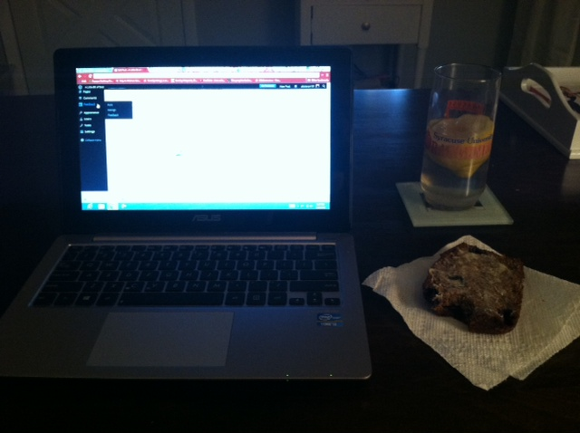 The perfect blogging late night snack!