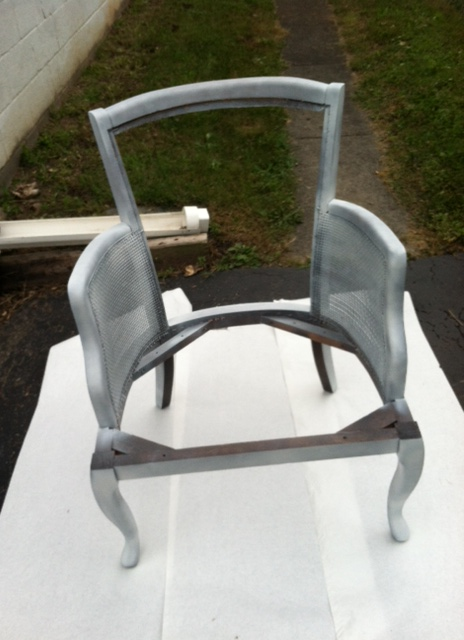 After one coat of primer spray paint.