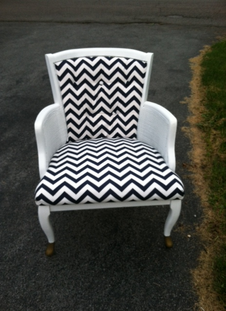 upcycled zig zag chair by A Little Bit of Zazz